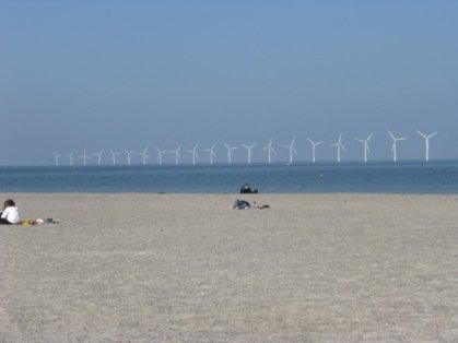 Amagerstrand (with windmills in background)