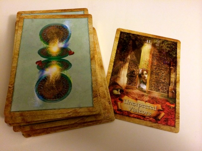 Example card from the Enchanted Map Oracle deck.