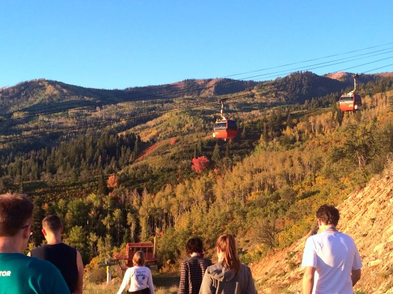Morning hike group.