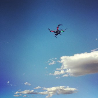 Drone during company photo shoot.
