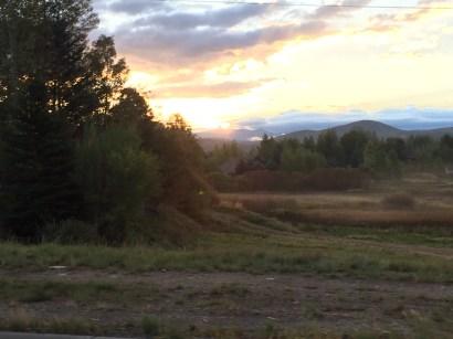 Sunrise en route back to Salt Lake City airport.