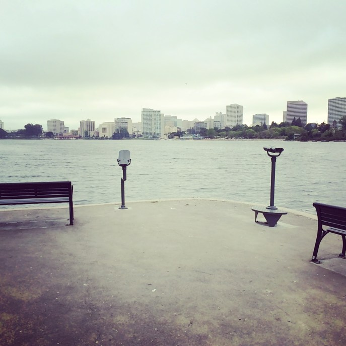 Yet another cloudy day on Lake Merritt. May gray weather is really starting to get to me.