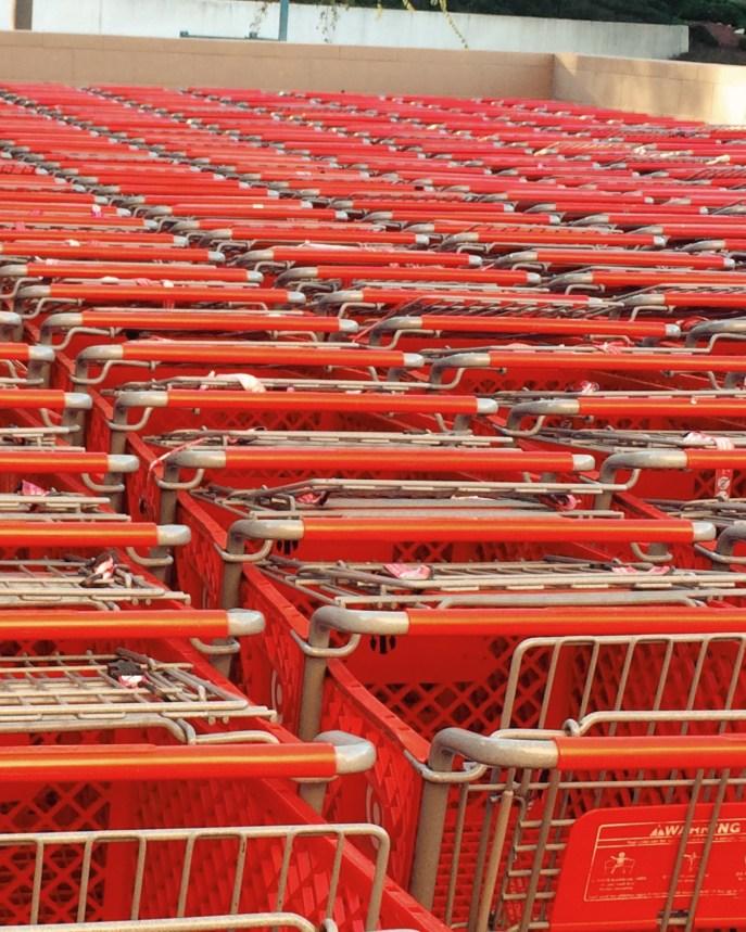 Sea of shopping carts. Taken at Target.