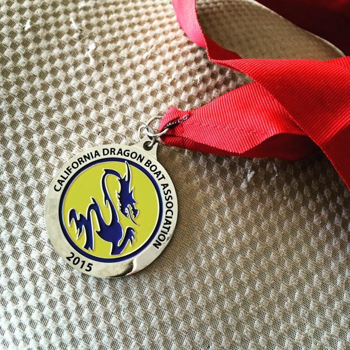 2nd Place medal for Oakland Renegades @ Regional Regatta, Jun 7th.