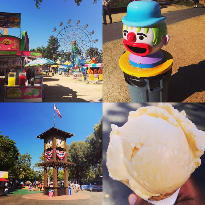 Sights, sounds, and tastes at the Alameda County Fair, Pleasanton, CA.