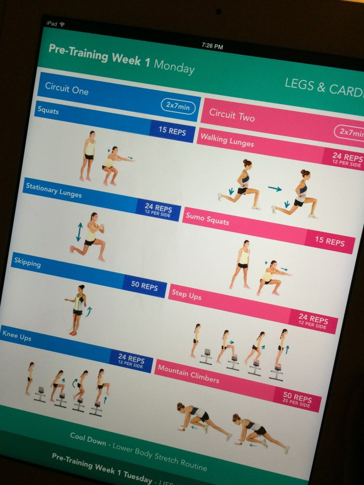 Started the Kayla Itsines exercise guides today. Start of a 28-week journey, wish me luck.