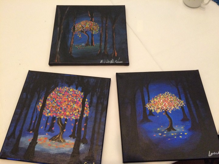 Paint Mixer paintings.