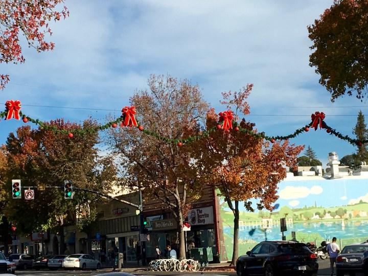 Lakeshore Avenue, looking festive.