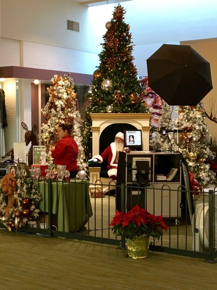 Santa Claus at University Place (formerly University Mall).