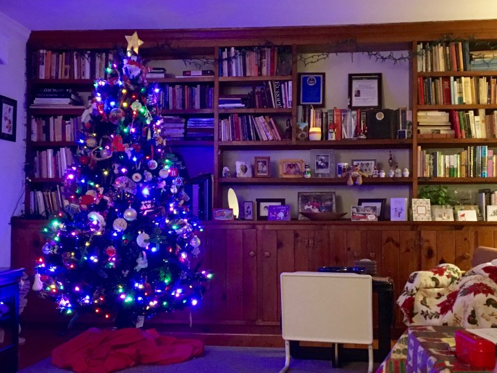 My mom always does a great job of decorating and making the house look festive for Christmas.