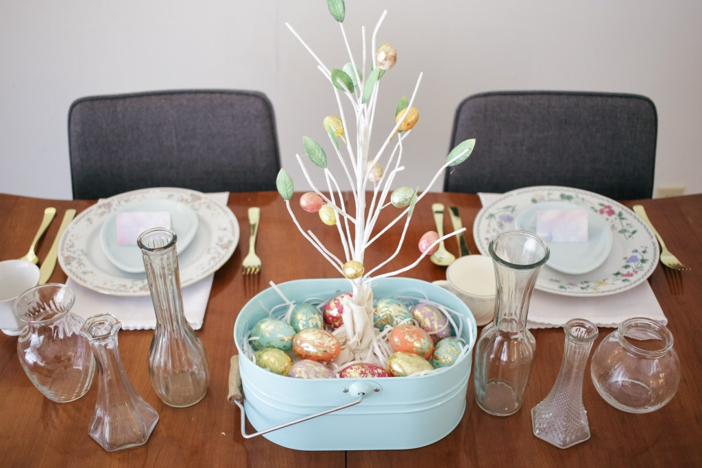 Easter Centerpiece Pastel Spring Tablescape