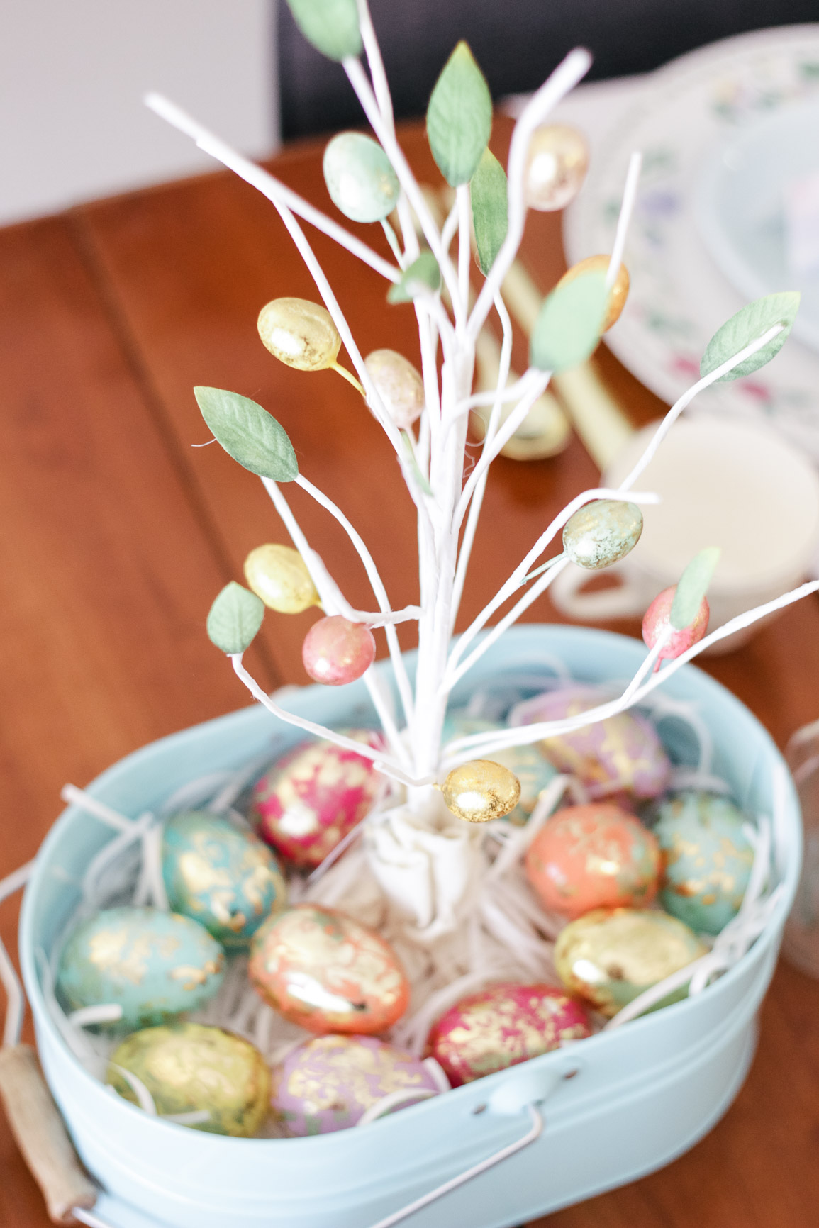 Easter Tablescape Centerpiece Pastel Spring Tablescape