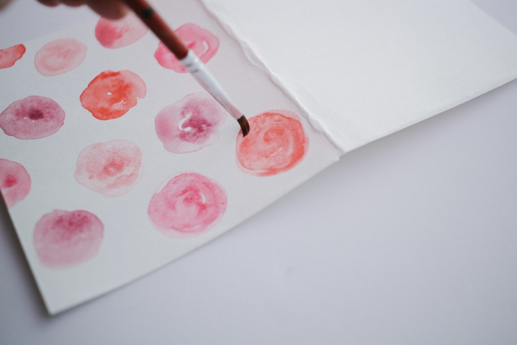DIY Watercolor Card for Beginners, Circle Method for Watercolor Flowers