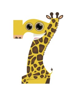 The number seven doubles as a giraffe