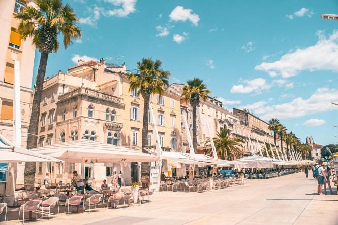Riva waterfront split croatia