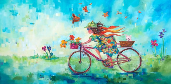 Girl on a Mission-SOLD-Giclee prints available