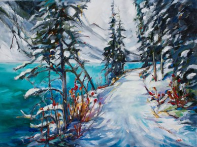 Just around the bend-  Lake Louise Canada-SOLD