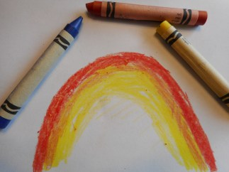 How to draw a rainbow Step 2