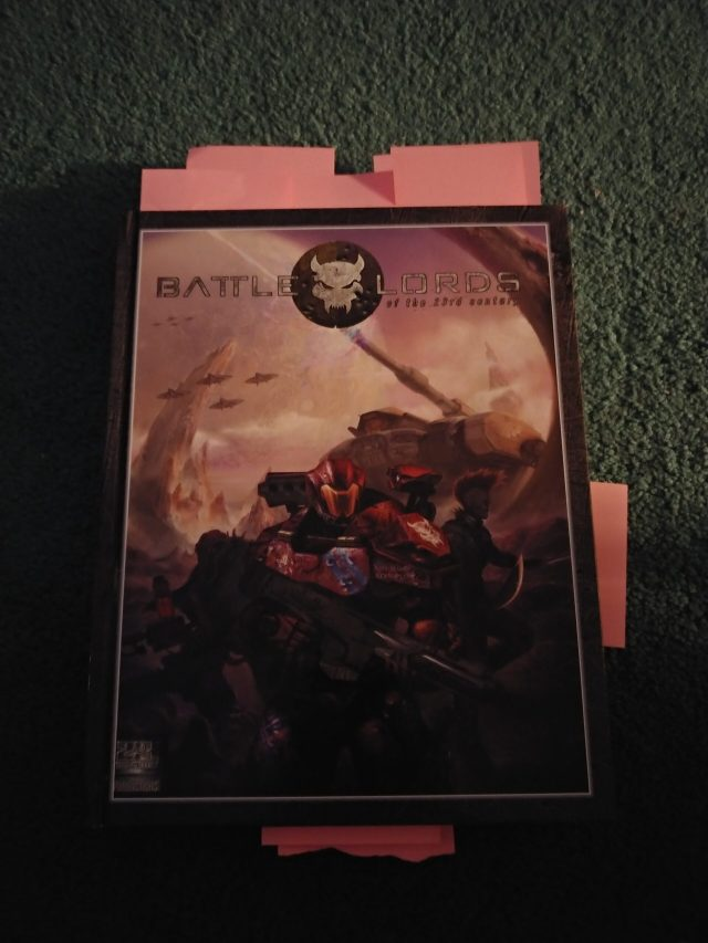 Battlelords of the 23rd Century Review Part 1: Book Layout and Character Creation!
