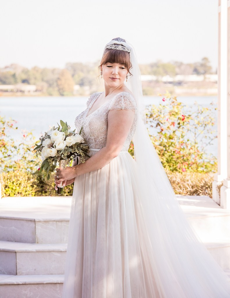 Bridal Portrait Walt Disney World Wedding at the Grand Floridian Wedding Pavillion