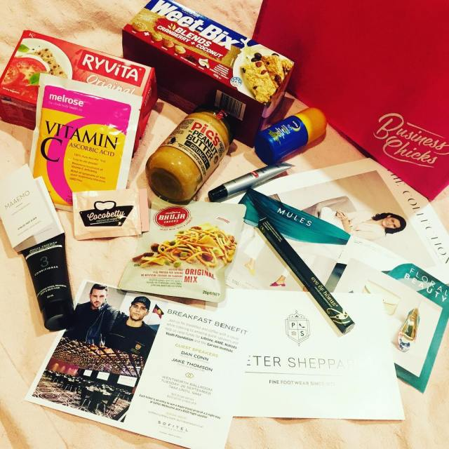 So you ask whatisinthegoodiebag businesschicks  weetbix ryvita maaemo melrosehellip
