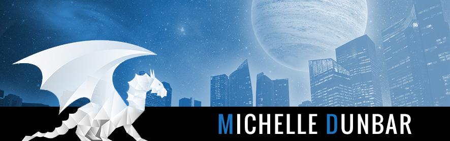 Michelle Dunbar logo - Dragon and landscape