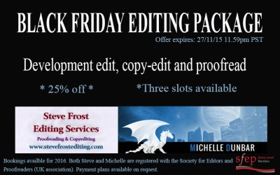 From developmental to proofreading (Black Friday limited offer)