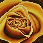 """Yellow Rose"" Original Acrylic Painting by Michelle East"