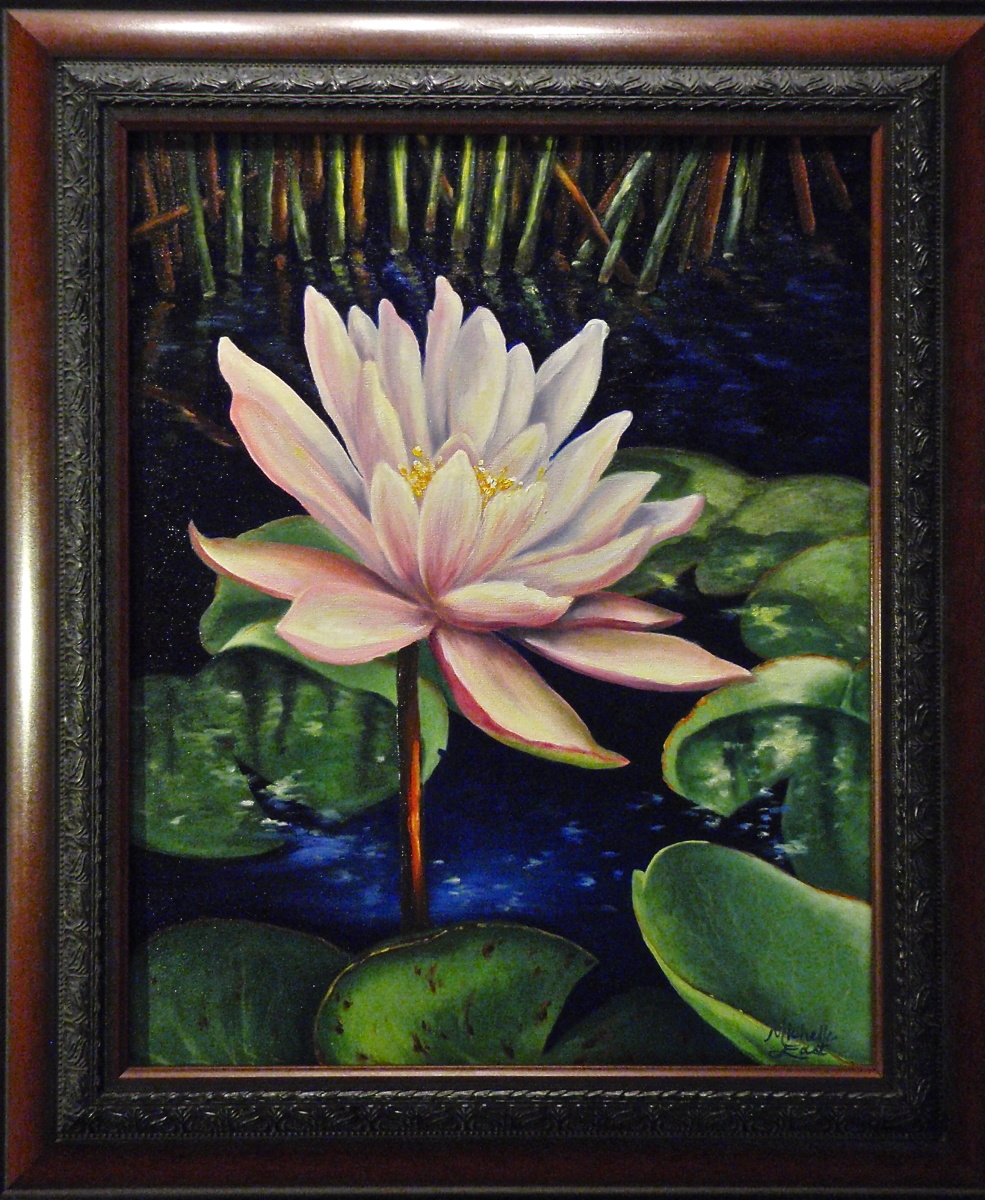 Lotus Flower Oil Painting Michelle East Art