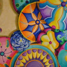 Pull up an umbrella acrylic painting by michelle east