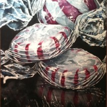 Peppermints #2 watercolor painting by Michelle East