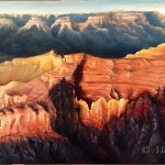 Grand Canyon Sunset Oil Painting Michelle C East
