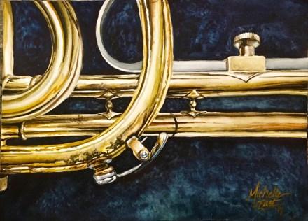 """Breathe in Me"" Michelle C. East Watercolor"