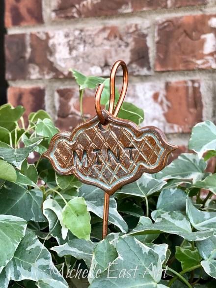 Mint clay Garden Marker Label