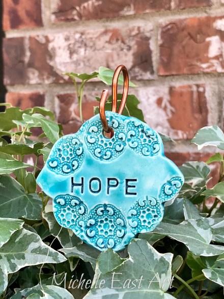 Hope clay Garden Marker