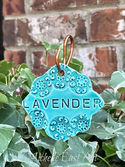 Lavender clay Garden Marker Label