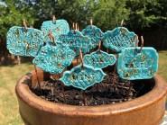 Clay Garden Markers