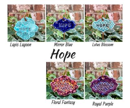 Hope Ceramic Gift Plant Marker
