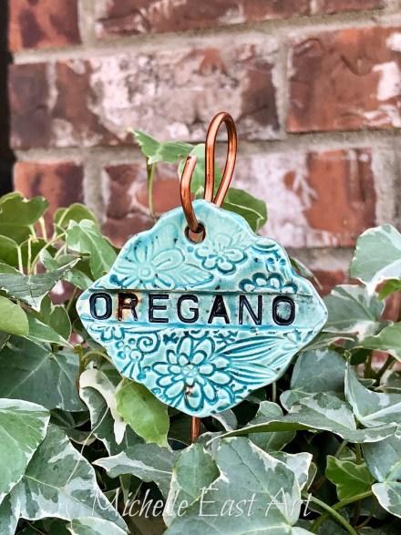 Oregano clay Garden Marker LabelOregano clay Garden Marker Label