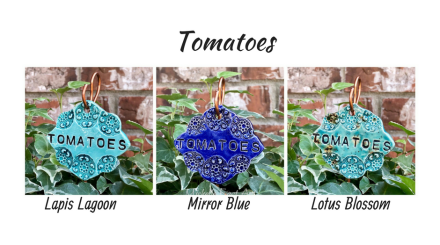 Tomatoes clay garden marker label