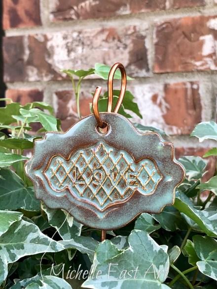 Love clay Garden Marker