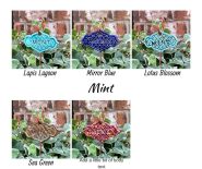 Mint clay herb garden marker label