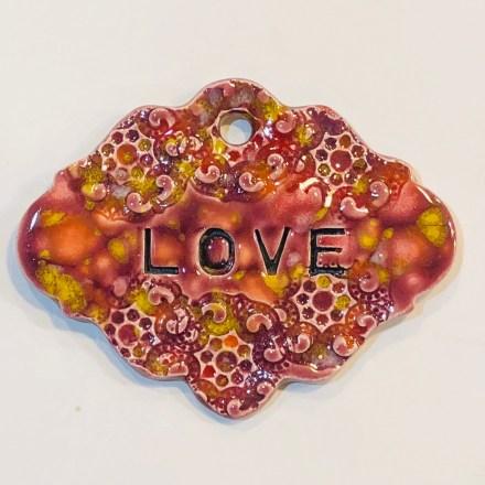 Love ceramic gift marker Design 2