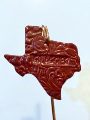 A&M Go Aggies Ceramic Ornament