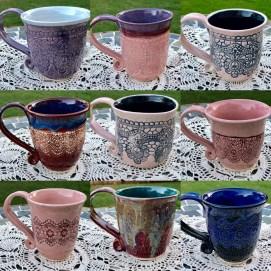 Lace Mugs Michelle East Art