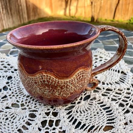 Wave Lace Mug #1 handmade potteryWave Lace Mug #1 handmade pottery