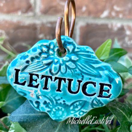 Lettuce garden marker label