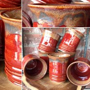 Deep Red Tumblers Handmade pottery