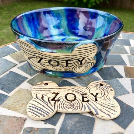 zoey custom dog dish