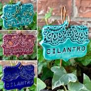 Cilantro Ceramic Garden Marker